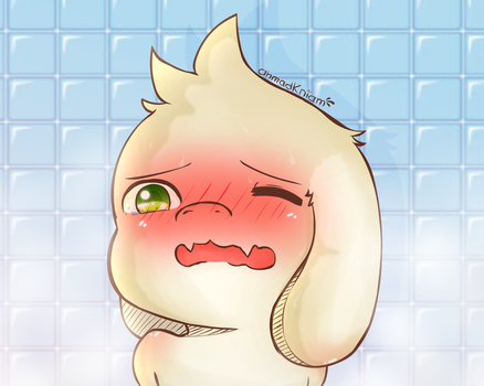 Asriel Blushing_FanArt by AhmaNiam