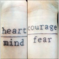 Heart over Mind, Courage over Fear by cattuccino