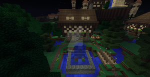 Vinnsbruck Village House and Fountain of Mystery! by UNDEADWARRIOR7411
