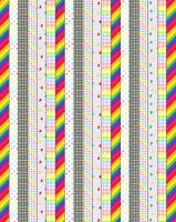 Rainbow Patterned Star Papers by sparklrckr