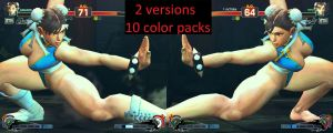 USF4 Mod - Chun Li Skirtless and Cleveage by Segadordelinks