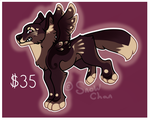 Winged pup adopt [OPEN] by snowpups123