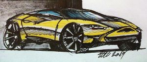 Yellow Coupe Concept by koleos33