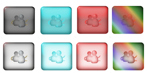 Transparent Messenger Buttons by LastScout