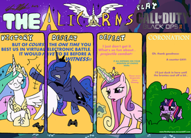 The Alicorns play CoD: Black Ops 2! by RedApropos