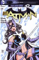 Huntress Sketch Cover by calslayton