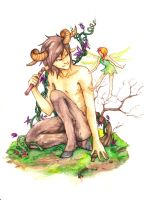 Faun and Fairy by RokSeS