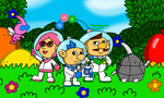 Pikmin 3 Captains by MarioSimpson1