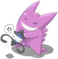 Ranpurra vs. Gengar by Shiranui-CandyGod