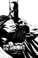 Batman close up Inked by TyndallsQuest