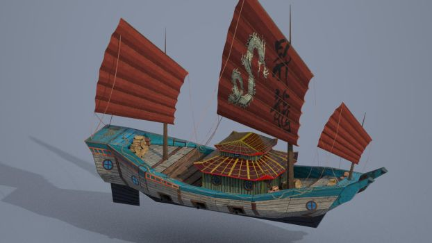 Low poly ship for casual mobile game 2 of 2 by toporcheg1992