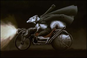 The Night Rider Motorcyclist by Zethelius