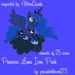 Princess Luna icon pack by percabethlover123