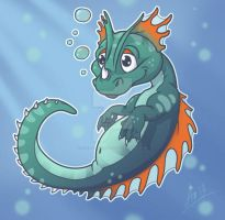 Baby-Water-Dragon 1 Hatched by GuardianDragon1