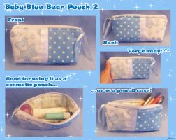 BabyBlue Bear cosmetic pouch 2 by BlueDove415