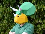 Paper Triceratops Mask by tetravariations