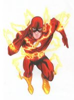 The Flash - Crayon Pencil by Meneguitte