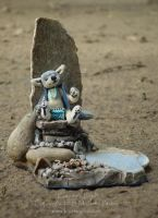 Coyote Doll and Incense Burner by MPFitzpatrick