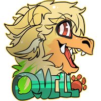 Quill - Furry con badge gift by Choco-Floof