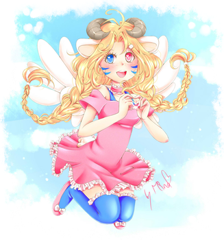 Fluffy Clouds And Angel Wings by mino-the-cat