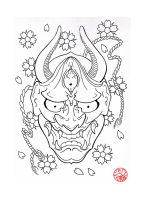 Hannya Mask 3 by Laranj4