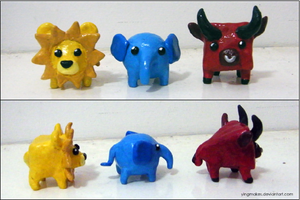 Primary Colours Shape Animals by yingmakes