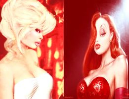 Holli Would and Jessica Rabbit by shadowedprincess01