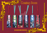 Japan expo 2014 goodies : Mass Effect bookmarks by Springouille