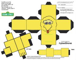 Muppets 8: Big Bird Cubee by TheFlyingDachshund