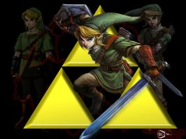 Link through the Triforce by theland10