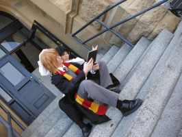 Studying with Remus by ZexionConvertedSaix