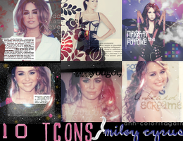 Miley Cyrus 100x100 (10) icons by ann-coloritagain