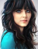 Zooey Deschanel by shobey1kanoby