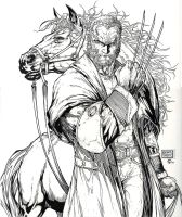 Old Man Logan - Michael Turner - Egli - Inks by SurfTiki