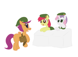 Scootaloo is a very bad Applescout by Elslowmo