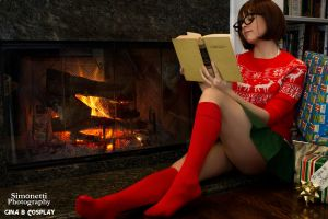 Christmas Velma by GinaBCosplay