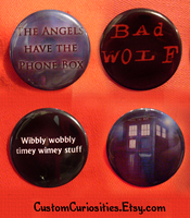 Doctor Who flair by ElectrikPinkPirate