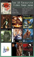 My Top Ten Games by LycanthropAsh