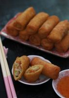 Homemade Chinese Spring Rolls (+recipe link) by theresahelmer