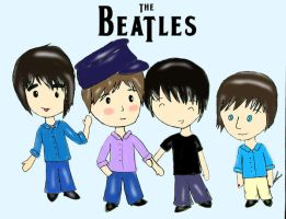 The Beatles by Queen-obsession