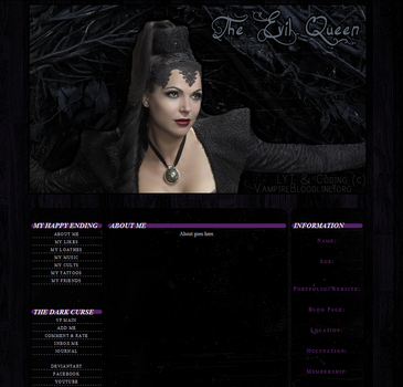 Once Upon A Time - The Evil Queen VF Lyt by VampireBloodline