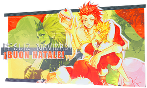 Axel N' Roxas Christmas -Sign- by Passion-Colors