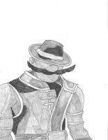 What if: Luigi as Kung Lao by LordExDeath