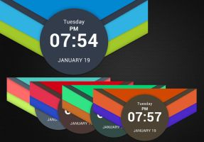 Material Clock for xwidget by Jimking