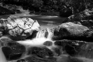 B and W River flow 3 by Abylone
