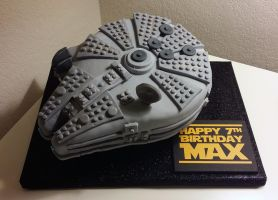 LEGO Star Wars Millennuim Falcon Birthday Cake by annimemanga