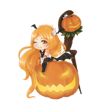 Sailor Pumpkin Chibi by blackXXraine