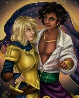 Esmeralda and Phoebus genderbend by MonsieArts