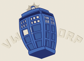 Wobbly TARDIS by kuroineko