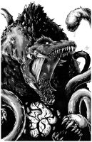 Biollante Greyscale for Gfan by KillustrationStudios